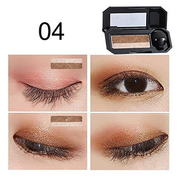 JaneDream Dual Color Eyeshadow Makeup Palette Perfect Glitter Eye Shadow Shade Cosmetic 4#