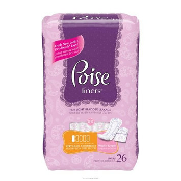 Poise Pantiliner Very Light Absorbency [POISE PANTILINERS]