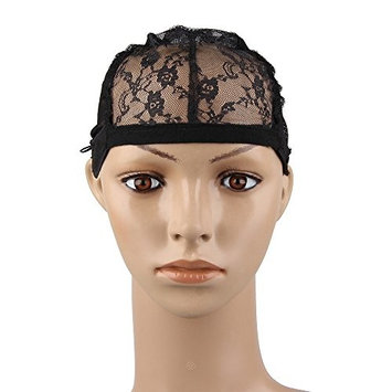 Bewish Floral Lace Full Wig Cap Adjustable For DIY Wig Weaving Sewing Hair Weft Lace Closure