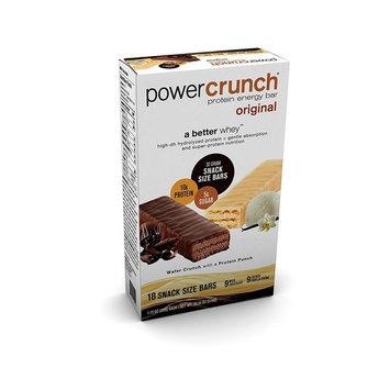 Power Crunch 18ct Protein Energy Bars Original 9 Milk Chocolate & 9 French Vanilla Creme 1.130z each