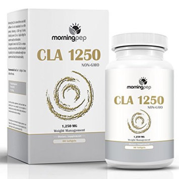 Morning Pep CLA 1250 mg 90 Count Highest Potency 80% Conjugated Linoleic Acid