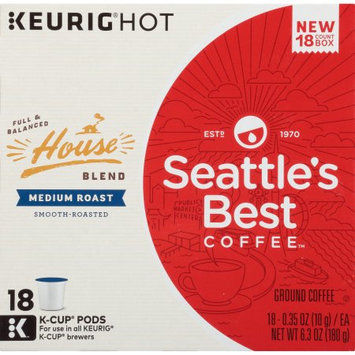 Seattle's Best Coffee™ House Blend Medium Roast Ground Coffee K-Cup® Pods 18 ct Box