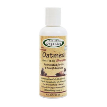 Mad About Organics All Natural Cat / Small Animal Oatmeal Anti-Itch Shampoo 4oz