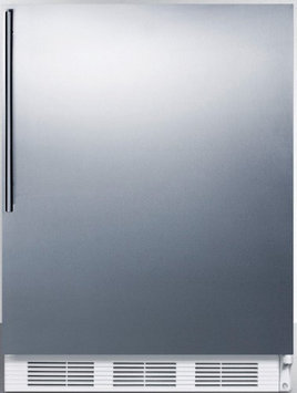 Summit FF67SSHVADA: Commercially approved, ADA compliant all-refrigerator for freestanding use, with stainles
