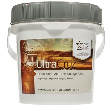 UltraCruz Goat Iron Charge Plus Supplement, 4 lb, pellets (85 day supply)