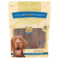 Wal-mart Stores, Inc. Golden Rewards Duck Jerky Recipe With Banana Dog Treats, 16 Oz