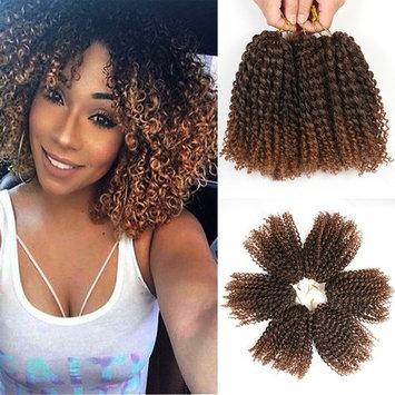8 Inch Short Marlybob Crochet Hair 6 Bundles/Lot Kinky Curly Crochet Braids Ombre Braiding Hair Synthetic Hair Extension