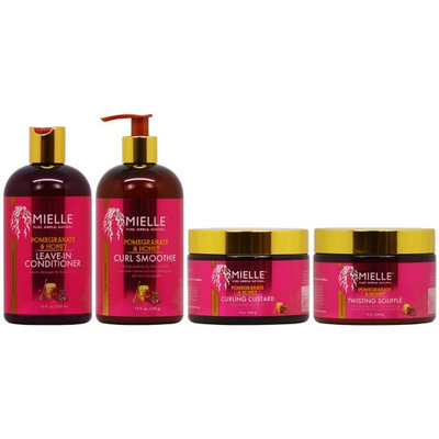 Mielle Organics Pomegranate & Honey 4 Pieces Hair Care Collection 12oz (Pack of 4)