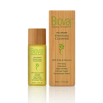 Biovaj Vivifying Cleanser,100% Organic,Pure,Natural,Vegan,Anti-aging,Deep cleansing plant oil, Makeup Remover,Blemishes,Blackheads,Facial Cleanser,Cruelty Free, Paraben Free, Alcohol Free, Unscented