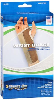 Sport Aid Sportaid Wrist Brace Palm Stay, Beige, Right, X-Large, 1 ea