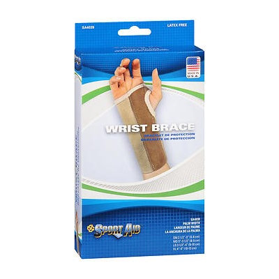 Sport Aid Sportaid Wrist Brace Palm Stay, Beige, Right, X-Large, 1 ea