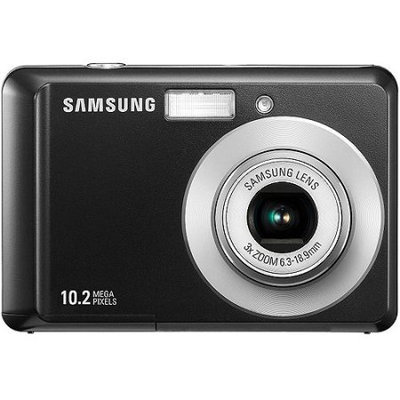 Samsung SL30 10 Megapixel Digital Camera with 3x Optical Zoom, 2.5 LCD, Face Detection, & Digital Image Stabilization - Black