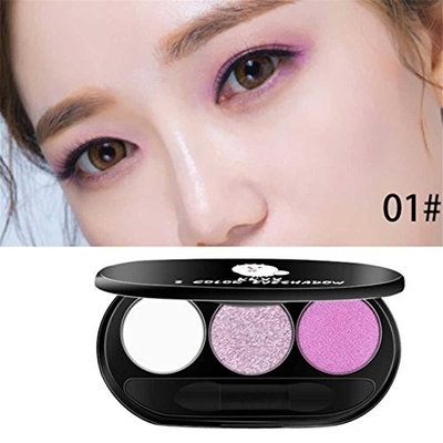 Three - Color Peach Makeup Smoked Warm Color Beads Matte Eye Shadow