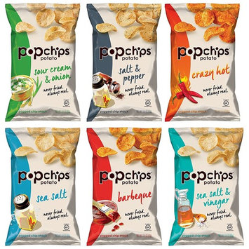 Popchips Variety Pack Sampler, Large Family Size Bags, 3.5 Ounce (6 Count)