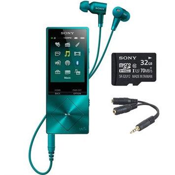 Sony 32GB Hi-Res Walkman Digital Music Player - Blue w/ 32GB Memory Card Bundle