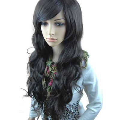 MelodySusie Black Long Curly Wig - 34