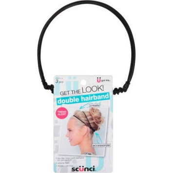 Scunci Double Hairband Set, 20431-A. 3 pc
