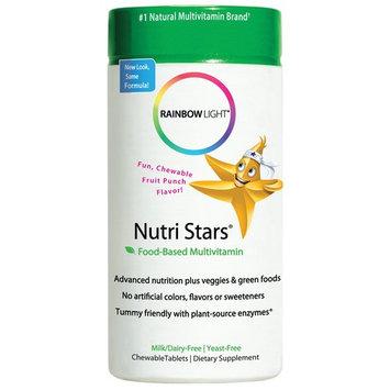 Rainbow Light, Nutri Stars, Food-Based Multivitamin, Fruit Punch Flavor, 60 Chewable Tablets(pack of 2)