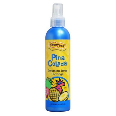 Crazy Dog Grooming Spray for Dogs, 8 oz. [Pina Colada Grooming Spray]