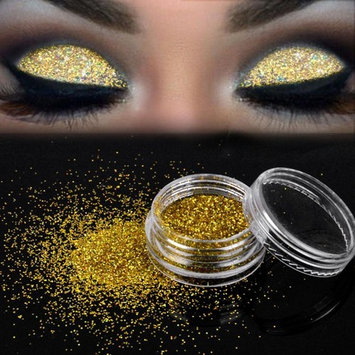 Sparkly Loose Powder EyeShadow, Keepfit Fashion Cosmetics Makeup Glitter Gold and Silver Eye Shadow Pigment for Women (G