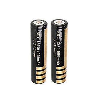 Mini Butterball 2Pcs 3.7V 18650 4000mah Protected Rechargeable Lithium Battery for Flashlight Headlamp
