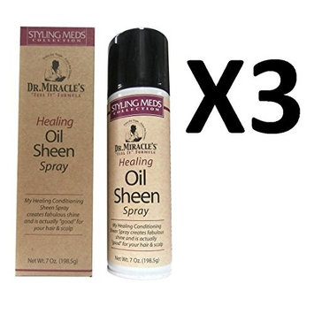 [LIMITED PACK OF 3] DR. MIRACLE'S HEALING OIL SHEEN SPRAY 7oz : Beauty