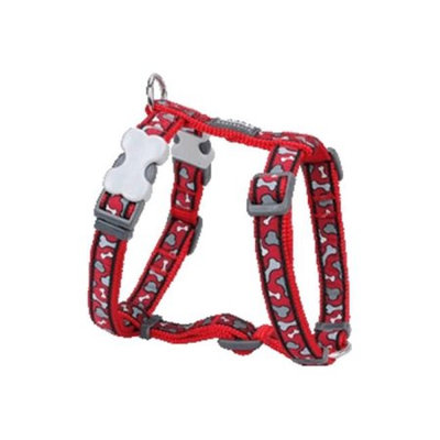 Red Dingo DH-BR-RE-ME Dog Harness Design Bonarama Red Medium