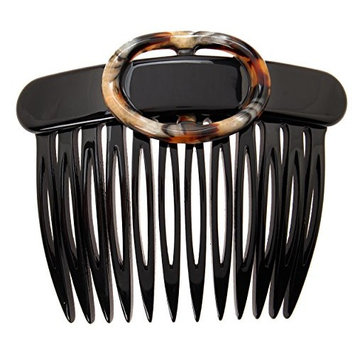 France Luxe Two Tone Buckle Comb - Black/Lasco