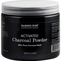 Majestic Pure Activated Charcoal Powder for DIY Recipes - Facial Masks, Facial Scrubs, Knee Lightening, Underarm Lightening, Homemade Eyeliner, Mascara, and Teeth Whitening , 8 oz [Powder]