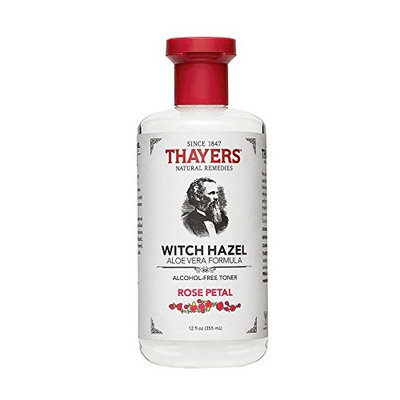 Thayers Alcohol-free Rose Petal Soothing Witch Hazel for Face & Skin with Aloe Vera, 12 oz (Case of 24)