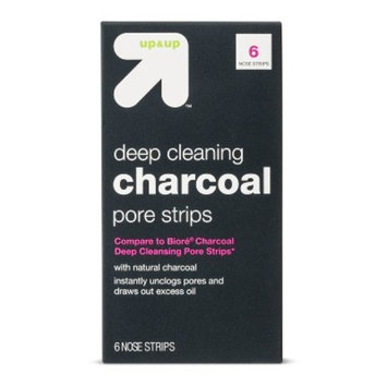 Charcoal Deep Cleansing Pore Strips - 6ct - Up&Up™ (Compare to Biore Charcoal Deep Cleansing Pore Strips)