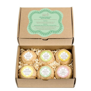 Lush Bath Bombs Gift Set for Women: 6 Aromatherapy Scents With Essential Oils Orange, Yoga Sunrise, Cucumber-Melon, Pink Grapefruit, Green Tea, and Honeycomb - Bath bombs for women