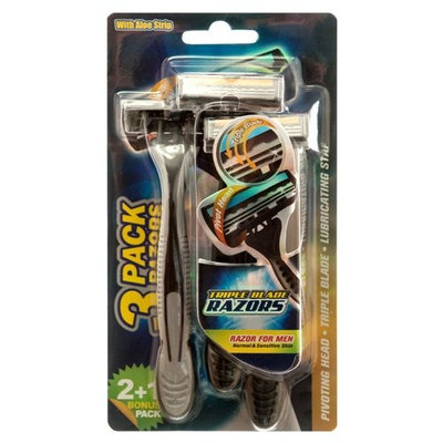 Wholesale RAZOR TRIPLE BLADE 3PC FOR MAN W/LUBRICATING STRIP