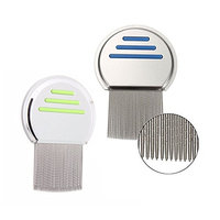 2 Pack Lice Comb Stainless Steel Louse Nit Comb for Hair Lice Treatment Remove, Louse Fleas Terminator,A Lifesaver for Parent Caretaker