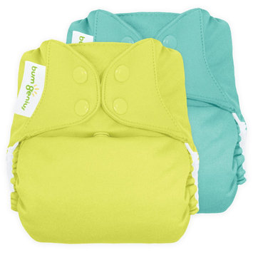bum Genius Freetime All-In-One Snap Reusable Diaper (2 Pack) - Assorted Colors, Mirror/Jolly