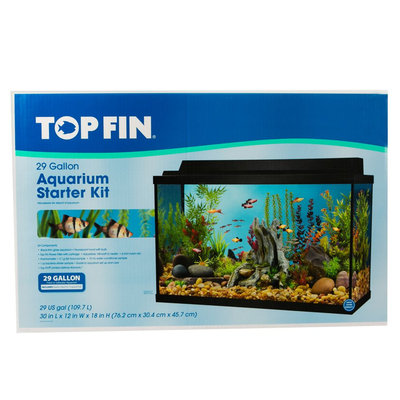 Top Fin® 29 Gallon Aquarium Starter Kit size: 29 gal