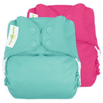 bum Genius Freetime All-in-One Snap Cloth Diaper, One Size - Countess/Mirror