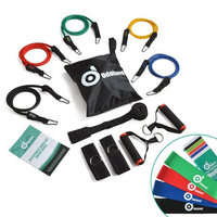 ODOLAND Resistance Bands 16 pcs Heavy Duty Set includes 4 Free Resistance Loop Bands