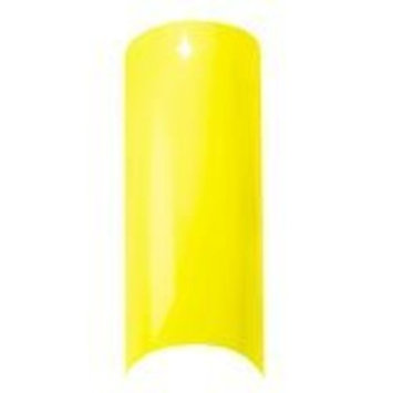 Cala Professional Color Nail Tips in Florescent Yellow # 87-557 100 PCS + A-viva Eco Nail File