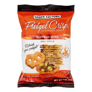 Snack Factory Pretzel Crisps - Buffalo Wing - 3 oz - 8 ct