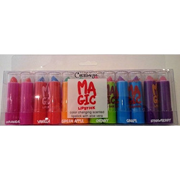Fruit Scented Aloe Vera Color Changing Magic Mood Lipstick (12pcs Pack) 6 Different Colors