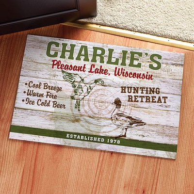 Personalized Hunting Retreat Doormat