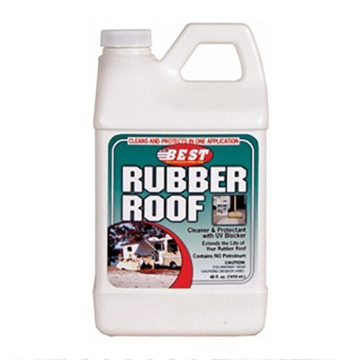 Best Products RV Motorhome and Trailer Exterior Rubber Roof Cleaner and Conditioner 48 oz.