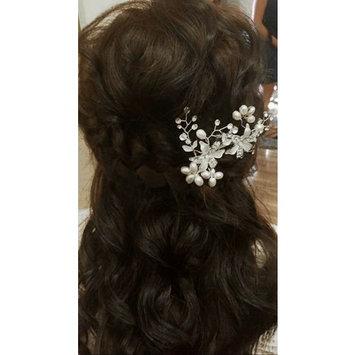 Simplicity Bridal Wedding Jewelry Pearl Rhinestone Side Bridal Comb Hairclip