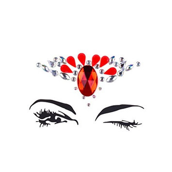 XIDAJIE 1Set Reusable Rhinestone Face Gems Sticker,Non-Toxic.Acrylic Face Jewels for Face Decorations Temporary Tattoo