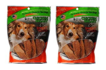Carolina Prime Chicken Breast & Sweet Tater Fillets Dog Treats, 1lb (Pack of 2)
