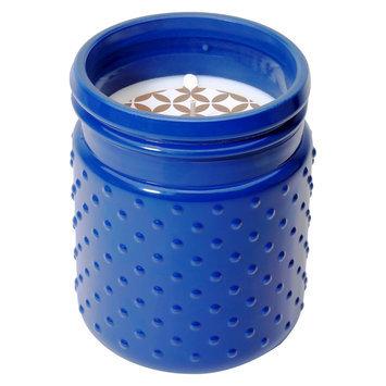 Soho Brights Hobnail Glass Candle Lemon Drop - 16.8 oz