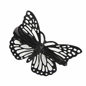 Womens Hair Clip - Pretty Girls Butterfly Shaped Metal Hair Pins Clamps Headdress Hair Accessories