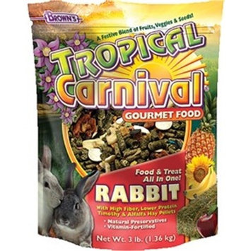 Brown's Tropical Carnival Rabbit Small Animal Food, 3 Lb