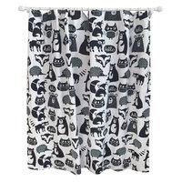 Forest Friends Shower Curtain Ebony Opaque - Pillowfort